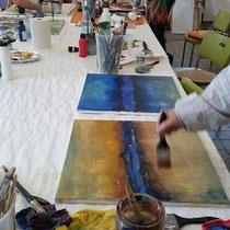 Acrylfarben und Spachtelmassen