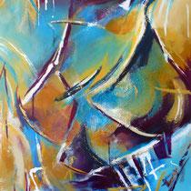 """""""Asien Impressionen 2"""", Acryl auf Leinwand, 60 cm 80cm"""