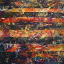 """Bangkok bei Nacht"", Acryl auf Leinwand, 100 cm x 110 cm"