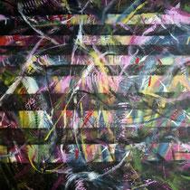"""Farbwelten 2"", Acryl auf Leinwand, 80 cm x 80 cm  (Verkauft)"