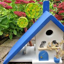 Houten Nestkastje voor Pindakaas pot, Nestkastje, thema, Grieks stijl  Uilen, Vogelhuisje bouwen, vogelhuisje pindakaas pot, huisje uilen