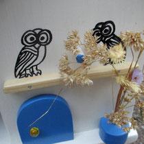 Houten Nestkastje voor Pindakaas pot, Nestkastje, thema, Grieks stijl  Uilen, Vogelhuisje bouwen, vogelhuisje pindakaas pot, huisje uilen_1