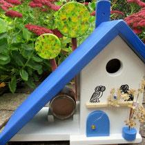 Houten Nestkastje voor Pindakaas pot, Nestkastje, thema, Grieks stijl  Uilen, Vogelhuisje bouwen, vogelhuisje pindakaas pot, huisje uilen_3
