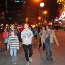 Unser erster abendlicher Ausgang in die Innenstadt
