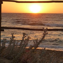 Sonnenuntergang am Strand von Valledoria