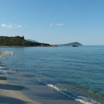 unser Strand am Stellplatz Baia Cea - Lido Orri -