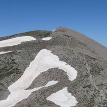 Blick zum Gipfel des Timius Stavros