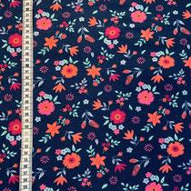 J-067 Blumen dunkelblau passend zu J-0059