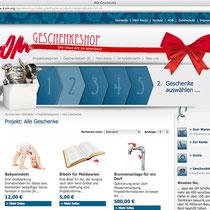 <h1>OM Geschenkeshop Spendenportal</h1><h3>(Konzept, Webdesign & Programmierung) nicht mehr online</h3>