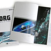 <h1>Produktbroschüren</h1><p>Für KORG&MORE haben wir mehrere Jahre zahlreiche Produktbroschüren, Kataloge, Messebedarf, Anzeigen sowie das Onlineportal realisiert.</p>