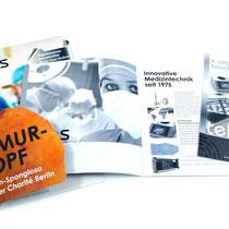 <h1>Broschüren und Veranstaltungsflyer</h1><p>Die Firma Telos GmbH mit Sitz in Marburg vertreibt und produziert medizintechnische Produkte. Nach der Entwicklung eines Gestaltungskonzepts haben wir diverse Broschüren, Geschäftsausstattung und Flyer realisiert.</p>