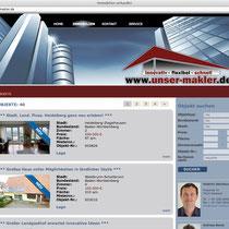 """<h1>Immobilienportal Unser Markler</h1><h3>(Konzept & Webdesign)<br><a href=""""http://www.unser-makler.de/"""" target=""""_blank"""">www.unser-makler.de</a></h3>"""