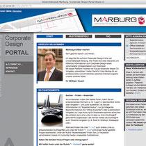 <h1>Corporate Design Portal Stadt Marburg</h1><h3>(Konzept, Webdesign und Programmierung) nicht mehr online</h3>