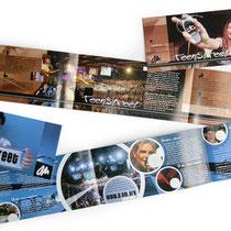 <h1>Eventbroschüre</h1><p>Zahlreiche Broschüren, Flyer und Werbemittel für Jugendevents und Kongresse – hier für den internationalen Teenagerkongress TeenStreet von OM – wurden bisher von uns konzipiert und gestaltet.</p>