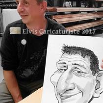 Animation caricatures, fête d'entreprise, Epinal, Vosges