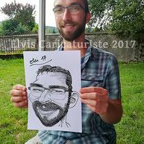 Animation caricaturiste, fête d'entreprise, Vosges
