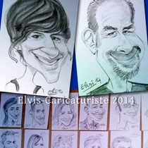 Animation caricatures, mariage, Moselle