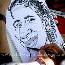 Animation caricatures, fête à Saint-Avold