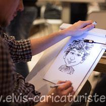 Animation caricatures, anniversaire