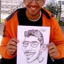 Animation caricatures, étudiant Nancy