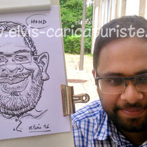 Animation caricatures, ICN business school Nancy