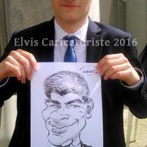 Animation caricatures, étudiant Metz