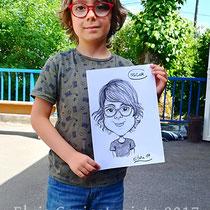 Animation caricatures, fête de la musique, Meuse
