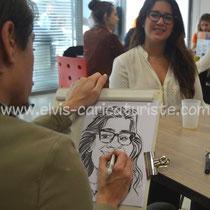 Animation caricaturiste, ICN business school Nancy