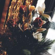 Wir legen viel Wert auf schöne und saisonal passende Dekoration