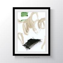 untitled 608|2019. Acryl auf Papier. 29,7 x 21 cm.