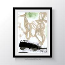 untitled 607|2019. Acryl auf Papier. 29,7 x 21 cm.