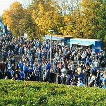Die Fans kommen