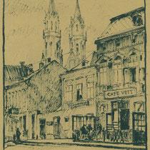 Niedermarkt, Café Veit, 1945