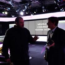 Con Jordi Batallé, periodista y presentador de Radio Francia Internacional en París. Noviembre de 2018.
