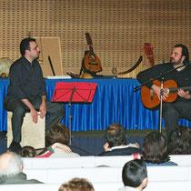 Con Juan Melgarejo en Pamplona, Navarra, 2003