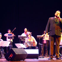 Con la Orquesta Típica Imperial en Amsterdam, Holanda, 2005