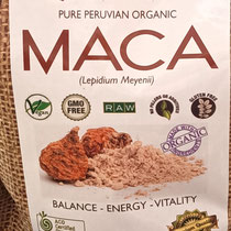 Maca, imported from the Peruvian Andes, certified Organic and great to add to smoothies for more energy