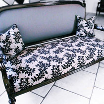 Barock-Sofa neu bezogen