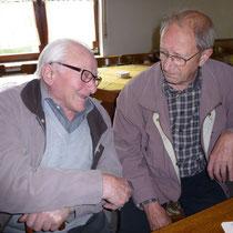 Die beiden Senioren beim diesjährigen Schießen, Hermann Schulte (91) und Wolfram Thöne (81)