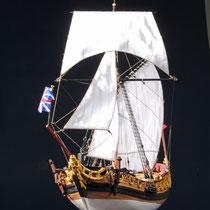 39-55  年代   1674     船籍  イギリス    縮尺 1/64     キットメーカー ウッディジョー Woody Joe     製作者   中山 寅男(一般)  Torao Nakayama