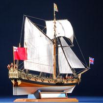 39-59  年代   1674     船籍  イギリス    縮尺 1/64     キットメーカー ウッディジョー Woody Joe     製作者  大村 孝昭(一般)  Takaaki Oomura