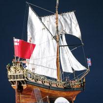 39-61  年代   1674     船籍  イギリス    縮尺 1/64     キットメーカー ウッディジョー Woody Joe     製作者   斉藤 忠吉(一般)  Tyukichi Saito