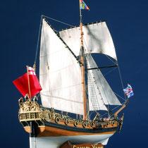 39-56  年代   1674     船籍  イギリス    縮尺 1/64     キットメーカー ウッディジョー Woody Joe     製作者  福本 英三(一般)  Eizo Fukumoto