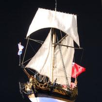 39-54  年代   1674     船籍  イギリス    縮尺 1/64     キットメーカー ウッディジョー Woody Joe     製作者  磯部 鎮雄(一般)  Shizuo Isobe