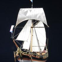 39-58  年代   1674     船籍  イギリス    縮尺 1/64     キットメーカー ウッディジョー Woody Joe     製作者  溝渕 照雄(一般)  Teruo Mizobuchi