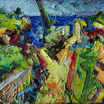Küste bei A. (Studie), Öl/Lw 40 x 50 cm, 2019