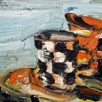Kleine Karotasse, Öl/Lw 30 x 40 cm,