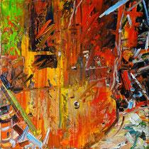 """Erzgießerei"", Öl/Lw 60 x 60 cm, 2020"