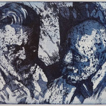 """""""Zwiegespräch"""", Slevogt und Lüpertz, Radierung, Aquatinta, ca 20 x 25 cm"""