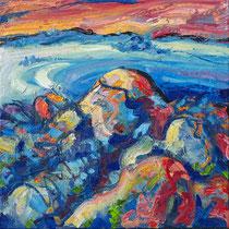 """""""An Amied"""", Öl/Lw 60 x 60 cm, 2021"""
